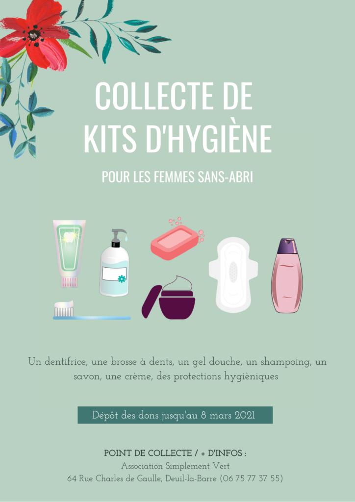 Collecte kits d'hygiène - Femme